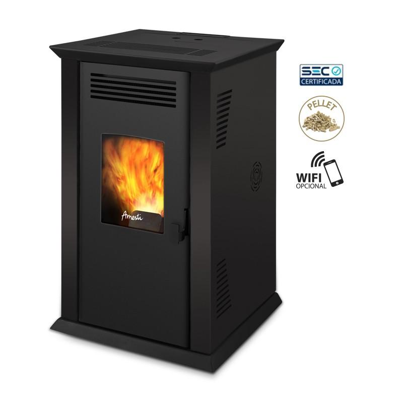 Chimenea esquinera banco chimenea llars de foc rstiques for Estufa hogar moderna